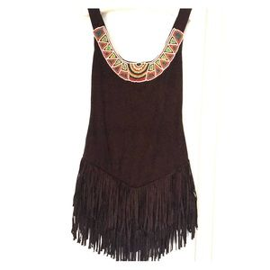 DREAMGIRL Beaded fringe boho festival dress